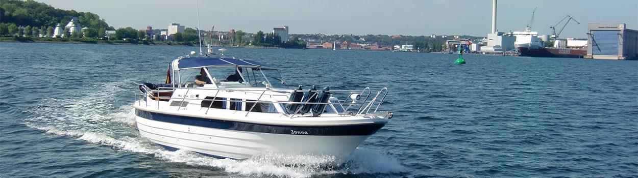 Motorboot in der Flensburger Förde